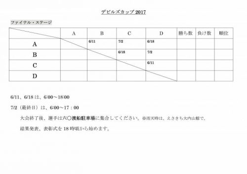 2017ファイナル日程